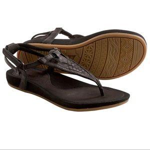 Teva Capri Woven Braided Leather Sandals Flats